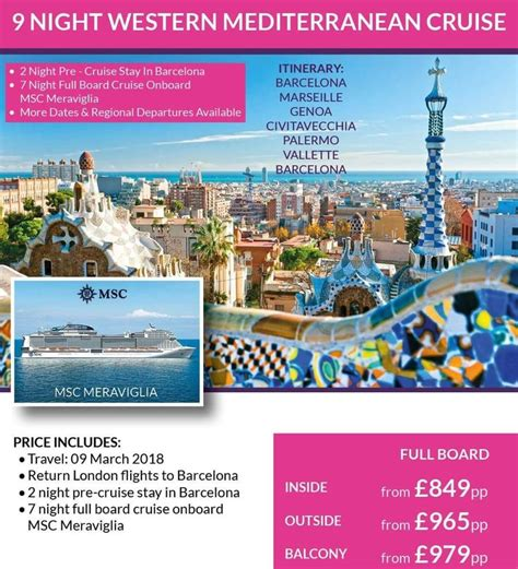 Mediterranean Cruise. March 2018. Be ready ...