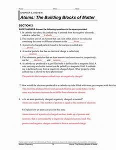 Electrons In Atoms Worksheet Answers Chapter 5