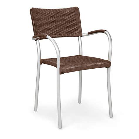 sedie in alluminio per esterno sedia in rattan sintetico ed alluminio artica wicker nardi