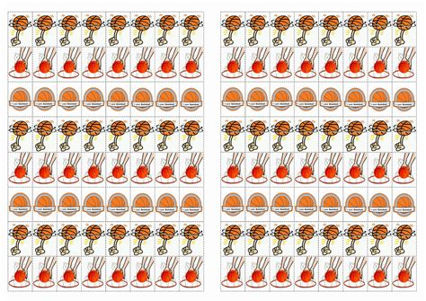 basketball stickers birthday printable