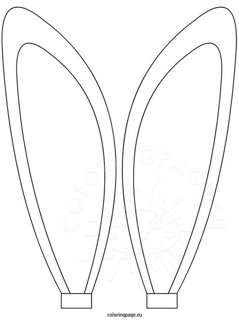 bunny ears coloring sheet coloring page