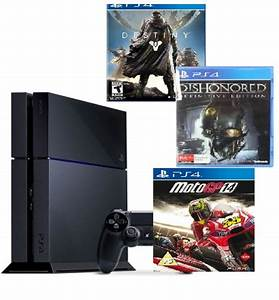 PlayStation 4 -Sony-1TB -With 3 Games -Destiny-Dishonored ...