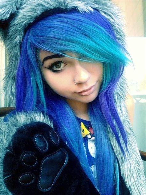Cabelos Coloridos Cabelos Azuis Pinterest Girls