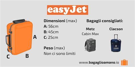 bagaglio  mano easyjet misure dimensioni  peso easyjet