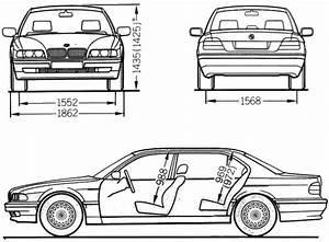 1994 bmw 7 series e38 750i sedan blueprints free outlines With bmw e38 7 series