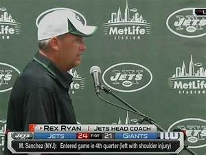 VIDEO: Rex Ryan Turned His Back To Reporters During Post ...