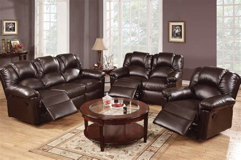 Espresso Leather Loveseat by 3 Pcs Espresso Motion Sofa Set Sofa Loveseat Recliner