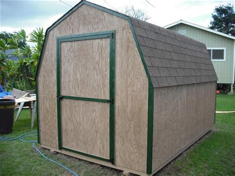 12x16 Gambrel Storage Shed Plans by Bobbs 10 X 8 Pent Shed Plans 8x6