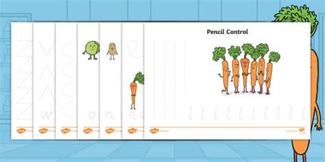 * New * Carrot Club Pencil Control Activity Sheets Originals