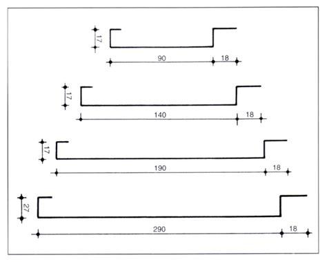 controsoffitto sezione controsoffitto a doghe metalliche serie c