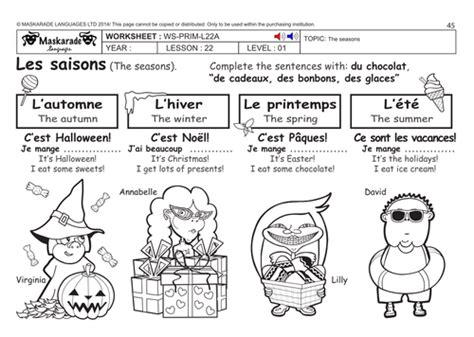 french health body y3 y4 the seasons by