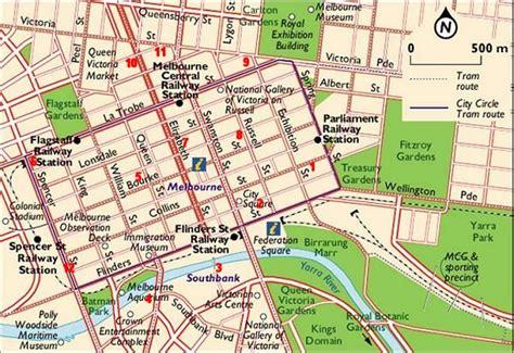 melbourne maps melbourne cbd  hotels