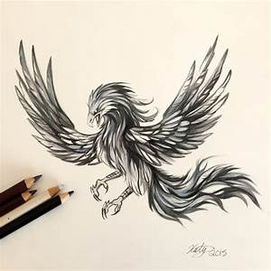 182- Black and Grey Phoenix by Lucky978 on DeviantArt