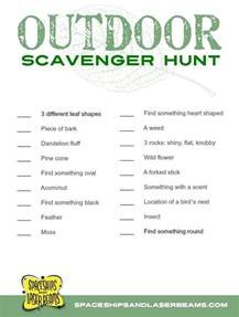 Kids Outdoor Scavenger Hunt Ideas