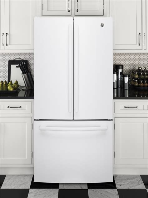 gwejglww ge   cu ft counter depth french door refrigerator white