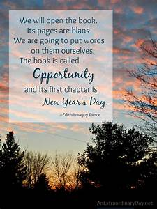 Opportunity A New Year's Quote The Week at a Glance