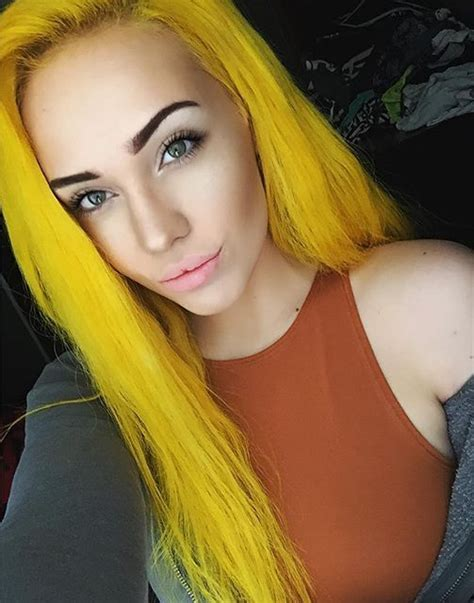 With Yellow Hair by 25 Best Yellow Hair Dye Ideas On