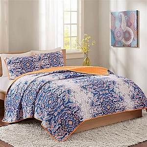 Intelligent Design Minnet Reversible Quilt Set in Blue ...