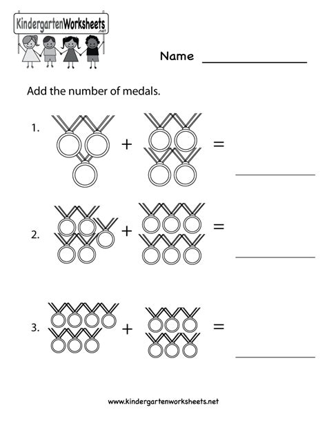 olympics math worksheet  kindergarten math worksheet