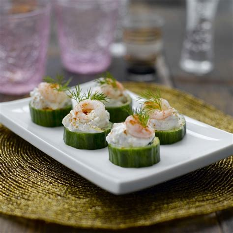 cucumber canapes prawn and cucumber canapés healthy recipe weight