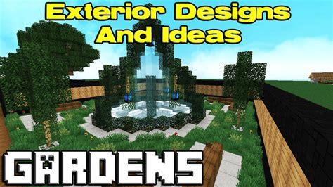 Minecraft Garden Designs Youtube