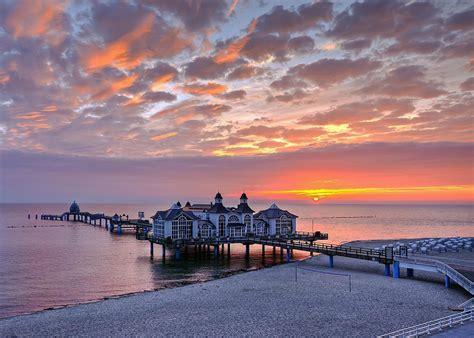 ocean pier sunset wallpaper  hd downloads