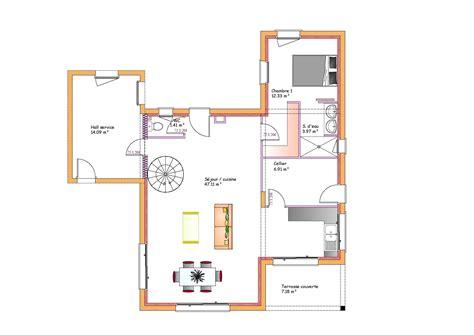 plan maison moderne toit plat maison moderne