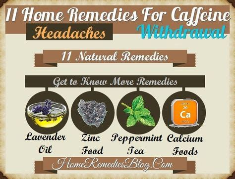 Caffeine withdrawal headaches develop after someone who usually consumes caffeine stops consuming it or cuts back on their intake too quickly. 11 Home Remedies For Caffeine Withdrawal & Headache   Natural headache remedies, Caffeine ...