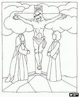 Calvary Template Coloring sketch template