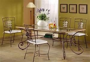 table en fer forge With salle a manger fer forge maroc