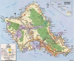 Map of Oahu Island Hawaii