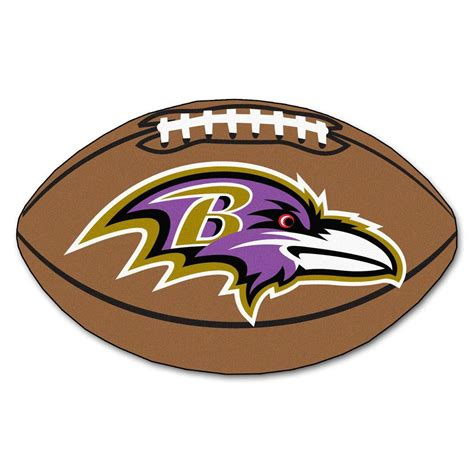 fanmats nfl baltimore ravens brown 1 ft 10 in x 2 ft 11 in specialty accent rug 5674 the