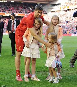 Steven Gerrard and Jamie Carragher's daughters and promote ...