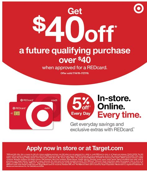 Check spelling or type a new query. Expired Apply for a new Target REDcard Debit/Credit and Get $40 off $40 Shopping Trip + $4 In ...