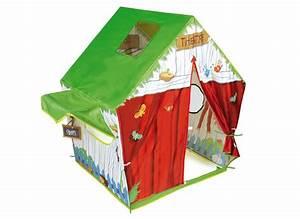 Cabane Enfant Tissu : cabane en toile enfant les cabanes de jardin abri de jardin et tobbogan ~ Teatrodelosmanantiales.com Idées de Décoration