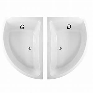 Grande Baignoire D Angle : baignoire d 39 angle asym trique versions droite et gauche ~ Edinachiropracticcenter.com Idées de Décoration