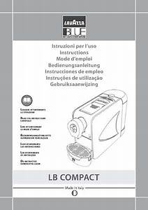 Lavazza Coffee Machines User Manual  U2615