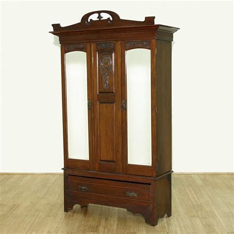 antique large walnut armoire wardrobe closet c1899