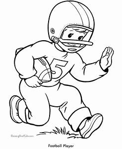 Coloring Pages Football Player Coloring Home