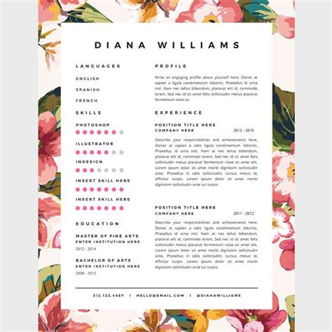 Motif Cv by 1000 Ideas About Creative Resume Templates On
