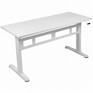 Vivo Manual Crank Height Adjustable Standing Desk