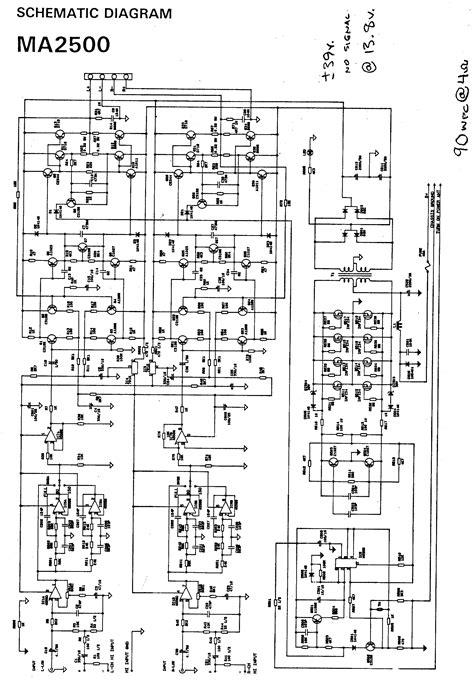 Watts Power Amplifier Schematic Diagram Circuit