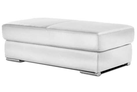 canapé flexform pouf rectangulaire en cuir henri blanc design sur sofactory