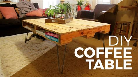 how to make a coffee table with hairpin legs coffee