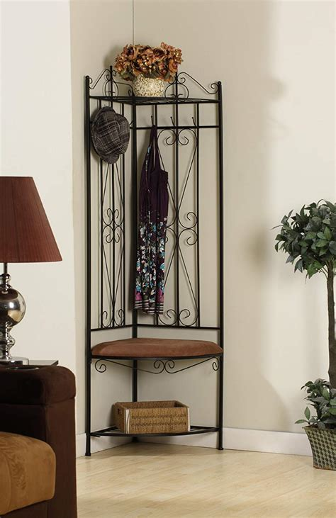 Entryway Benches With Storage And Coat Rack - entryway storage bench coat rack metal tree stand