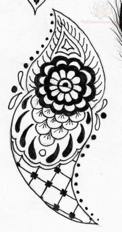 19 Best Photos of Paisley Patterns To Print Out - Paisley Print | Henna tattoo designs