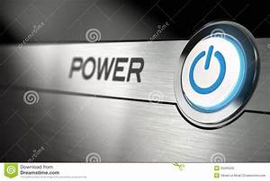 Power Button Stock Illustration  Image Of Metal  Modern