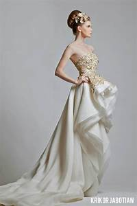 stunning white gold wedding gown a step toward glamour With white and gold wedding dresses