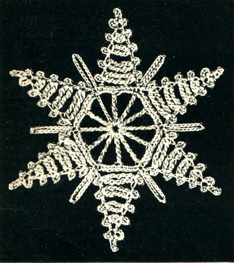 snowflake star how to stiffen crochet snowflake archives vintage crafts and more