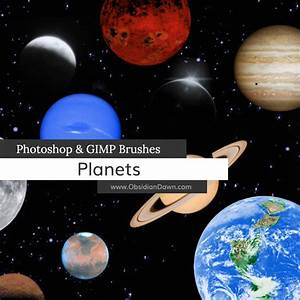 Planets Photoshop & GIMP Brushes | Obsidian Dawn